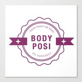 Body Positive Badge Canvas Print