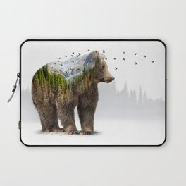 Wild I Shall Stay | Bear Laptop Sleeve