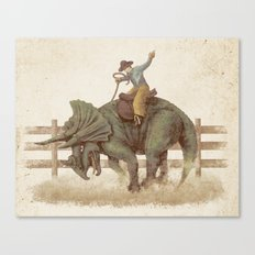 Dino Rodeo  Canvas Print