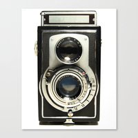 model Canvas Prints featuring Vintage Camera by Ewan Arnolda