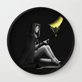 Honey moon - for a sweet night Wall Clock