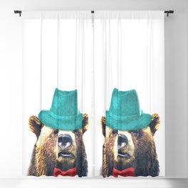 Funny Bear Illustration Blackout Curtain