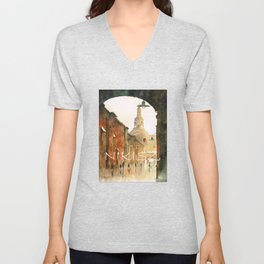 A view on St Anne Street Unisex V-Neck