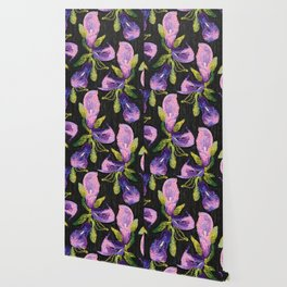 Embroidered callas Wallpaper