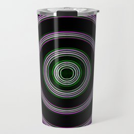 purple with a green core Travel Mug