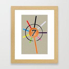 Keirin Race Framed Art Print