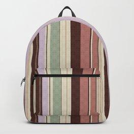 vertical stripes. Backpack