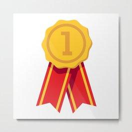 Gold Ribbon Award Metal Print