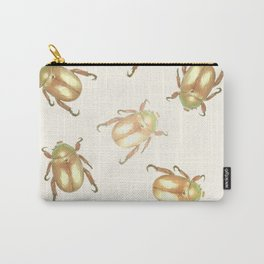 luxury golden scarab pattern Carry-All Pouch