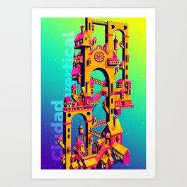 Ciudad Vertical Art Print