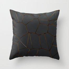 Golden Seams Throw Pillow