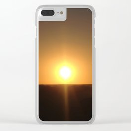 Sunset Seclusion Clear iPhone Case