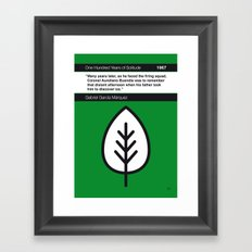 No004 MY One Hundred Years of Solitude Book Icon poster Framed Art Print
