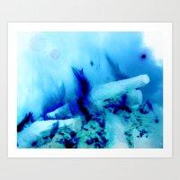 Ice Fire Art Print