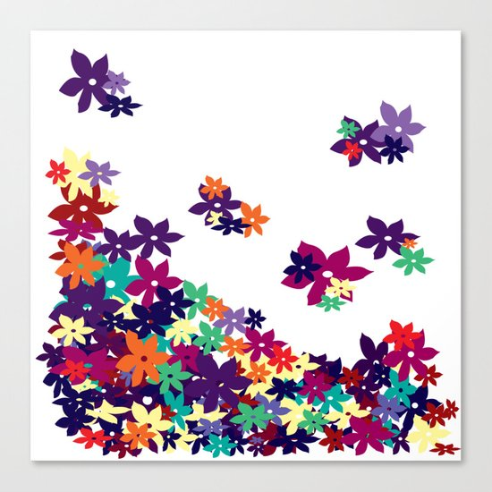 Flowered Up Canvas Print