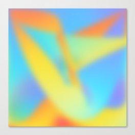 pastel shades of rainbow Canvas Print
