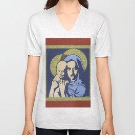 Jesus and Mary Nativity Unisex V-Neck