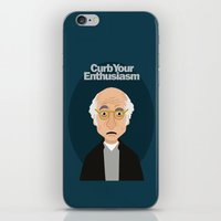 larry david iPhone & iPod Skins featuring Larry David by Spencer Rizk