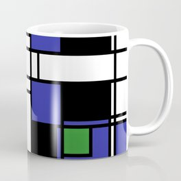 Neoplasticism symmetrical pattern in sapphire blue Coffee Mug