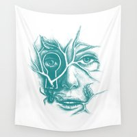 courage Wall Tapestries featuring Courage and Insecurity by Norman Duenas