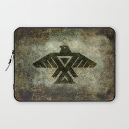 Thunderbird flag - Vintage grunge version Laptop Sleeve