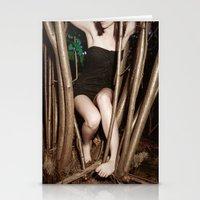 nicolas cage Stationery Cards featuring Nicolas Caged I by Linas Vaitonis