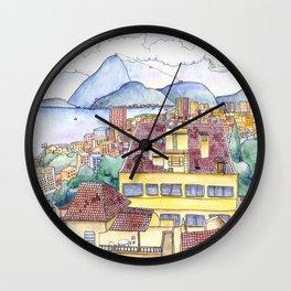 View from Ruins Park, Rio de Janeiro Wall Clock
