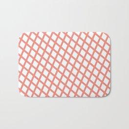 Lattice   Salmon Bath Mat