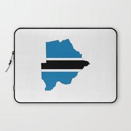 botswana flag map Laptop Sleeve