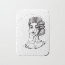 JennyMannoArt Graphite Drawing/Nora Bath Mat