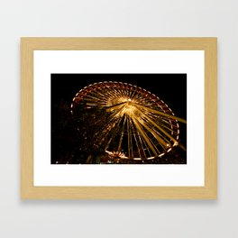 Navy Pier Ferris Wheel Framed Art Print
