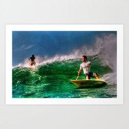 Surfing In Costa Rica Art Print