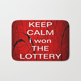 Keep Calm I Won The Lottery - phone cases for 6 - phone cases for 6s plus Bath Mat