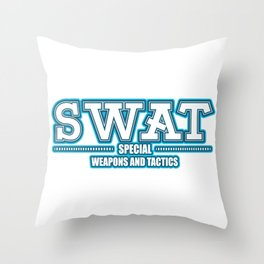 SWAT police special forces command Throw Pillow