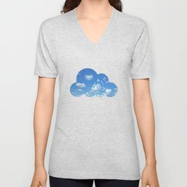 Blue sky and clouds Unisex V-Neck