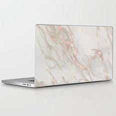 Marble Rose Gold Blush Pink Metallic by Nature Magick Laptop & iPad Skin