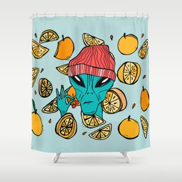 Space Fruit Shower Curtain