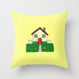 normal girl Throw Pillow