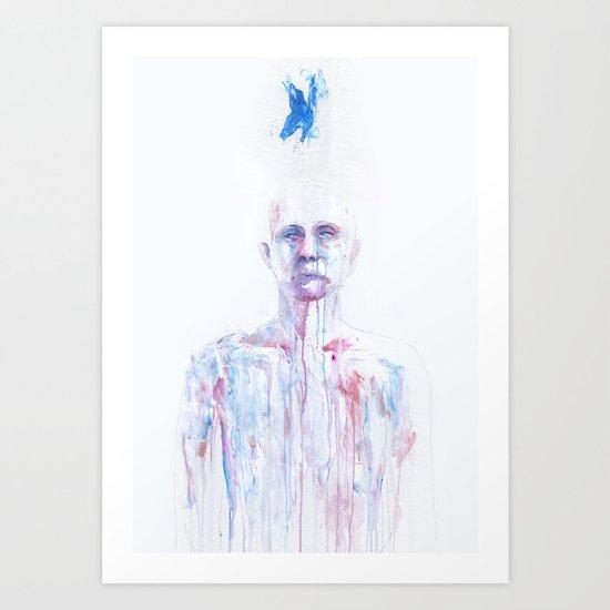 Last Blue Breath Art Print