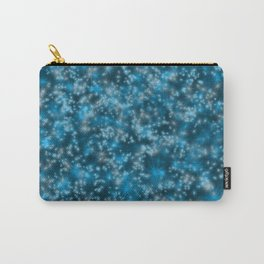 Turquoise Blue Field of Stars Carry-All Pouch