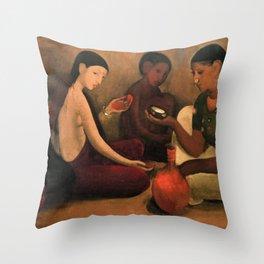Bride's Toilet -Amrita Sher-Gil Throw Pillow