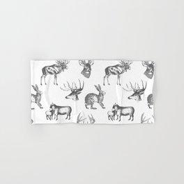 Woodland Critters in Dark Grey Hand & Bath Towel