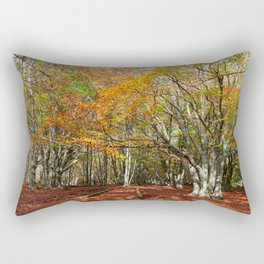 Wonderful and colorful autumn in the woods of Canfaito park, Italy Rectangular Pillow