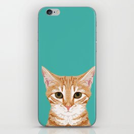 Tabby orange cat head cat breed gifts cute tabby cats must haves iPhone Skin