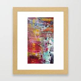 Sun Rise River Turn Framed Art Print