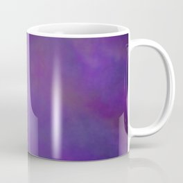 Abstract Soft Watercolor Gradient Ombre Blend 14 Dark Purple and Light Purple Coffee Mug