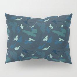 Bird Camouflage at Midnight Pillow Sham
