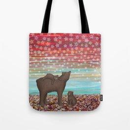 brown bears and stars Tote Bag