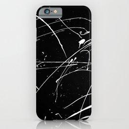 MONOCHROME SPLATTER #2 iPhone Case