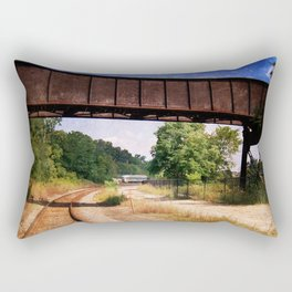 Vintage Railroad Tracks Rectangular Pillow